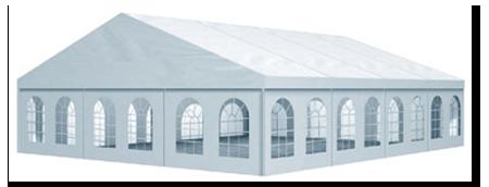 Prireditveni šotor dimenzije 15 × 40 metorv